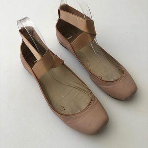 Chloe Nude Ballerina Flats Size 7